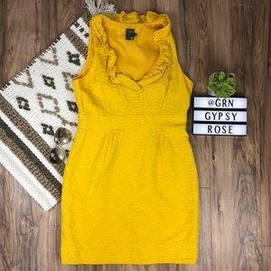 Taylor bright yellow midi dress Sz 14